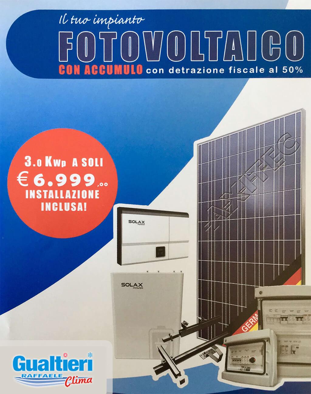 Promo fotovoltaico con accumulo 3kwp detrazione 50 - Condizionatori detrazione 2017 ...